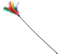 Удочка дразнилка (длинная 1 метр, с перьями)