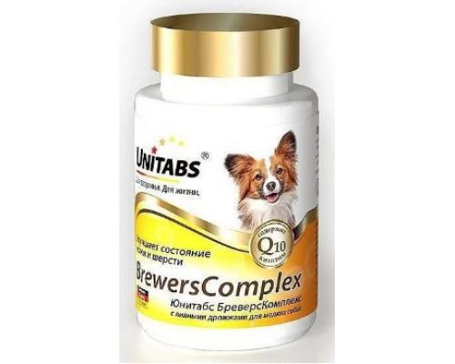 UNITABS BreversComplex с Q10 для мелких собак с пивными дрожжами 100 таб