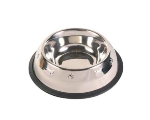 TRIOL Миска металлическая на резинке с чеканкой 0,25л