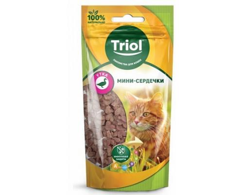 TRIOL Мини-сердечки из утки для кошек (Триол). Вес: 40 г