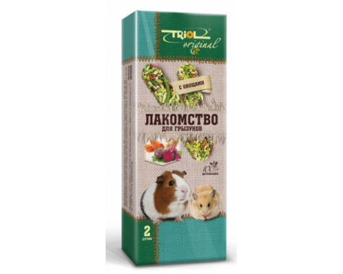 TRIOL Original Лакомство для грызунов с овощами (Триол): 2 шт