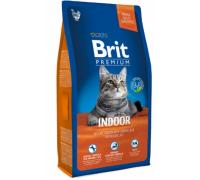 Brit Premium Cat Indor для кошек домашнего содержания курица и печень. Вес: 800 г