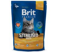 Brit Premium Cat Sterilised утка, курица и куриная печень для стерилизованных кошек. Вес: 800 г