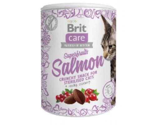 Brit Care лакомство для стерилизованых кошек Superfruits Salmon с лососем. Вес: 100 г