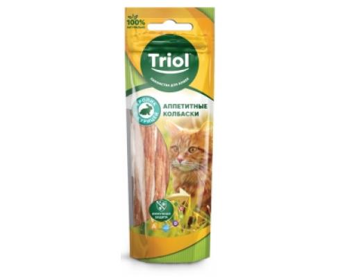 TRIOL Аппетитные Колбаски из кролика с курицей для кошек (Триол). Вес: 40 г