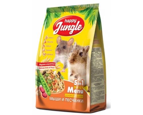 HAPPY JUNGLE Корм для мышей и песчанок. Вес: 400 г