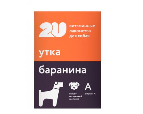 """2u Витаминное лакомство для собак """"мультивитаминный комплекс"""", 60таб"""