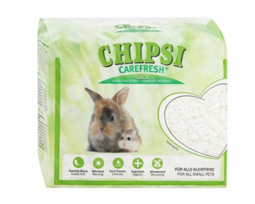 CHIPSI Carefresh Наполнитель подстилка Pure White белый бумажный для мелких домашних животных и птиц 10 л