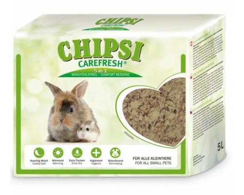 CHIPSI Carefresh Наполнитель подстилка Original натуральный бумажный для мелких домашних животных и птиц 14 л