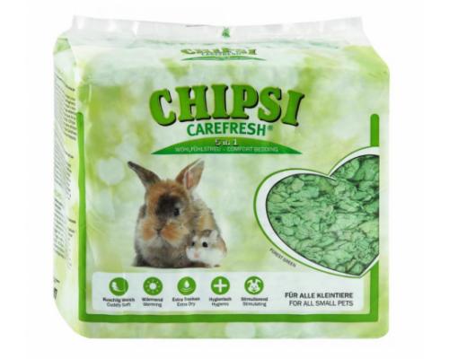 CHIPSI Carefresh Наполнитель подстилка Forest Green зеленый бумажный для мелких домашних животных и птиц 14 л