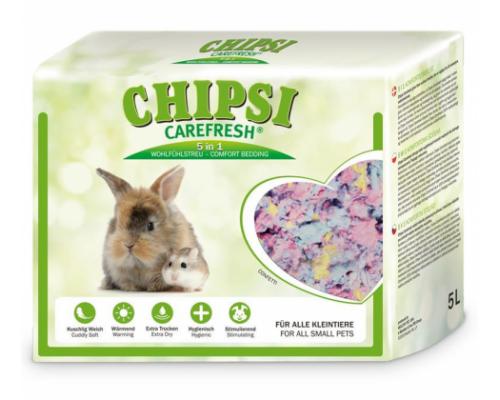 CHIPSI Carefresh Наполнитель подстилка Confetti разноцветный бумажный для мелких домашних животных и птиц 10 л