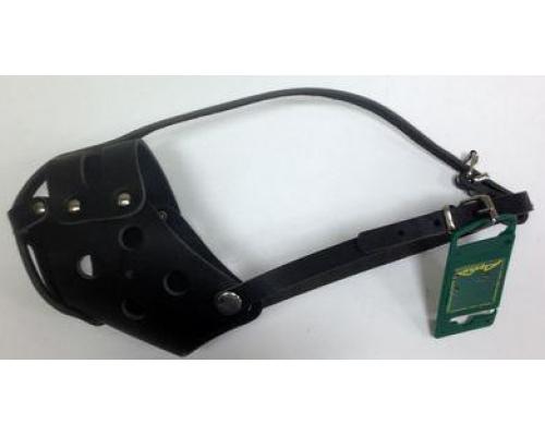 АРКОН н32бсч/ 32354 Намордник кожаный 32б сплошной, размер 32 см, цвет черный, н32бсч