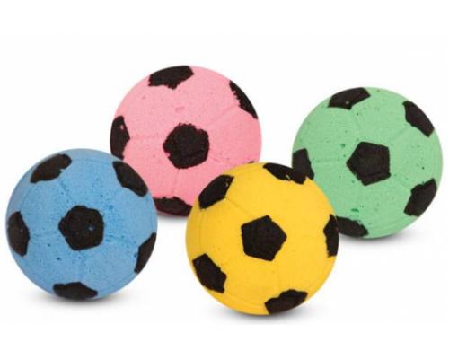 TRIOL Мяч футбольный одноцветный зефирный для кошек ф45мм
