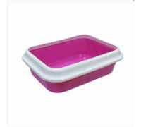 Туалет LEADER для кошек с рамкой 46х34,5х14см