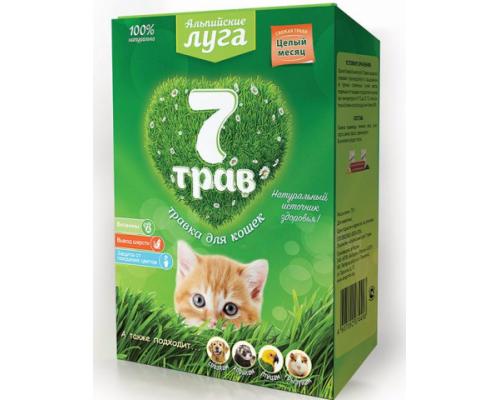 Травка для кошек Альпийские луга 7 трав (лоток) 150 г
