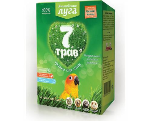 """Травка для птиц Альпийские луга (лоток) """"7 трав"""", 50 г"""