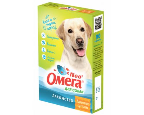 """ОМЕГА NEO+ лакомство для собак с глюкозамином и коллагеном """"Здоровые суставы"""" 90 таб"""