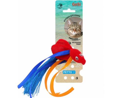 PETTO Игрушка GoSi Золотая рыбка красная с пищалкой