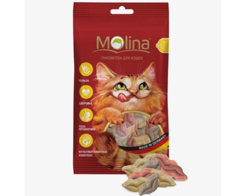 "Молина Лакомства для кошек ""Поцелуйчики MIX"". Вес: 35 г"