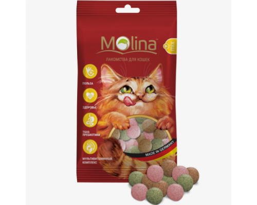 """Молина Лакомства для кошек """"MIX. Рыба, Водоросли, Дичь"""". Вес: 35 г"""