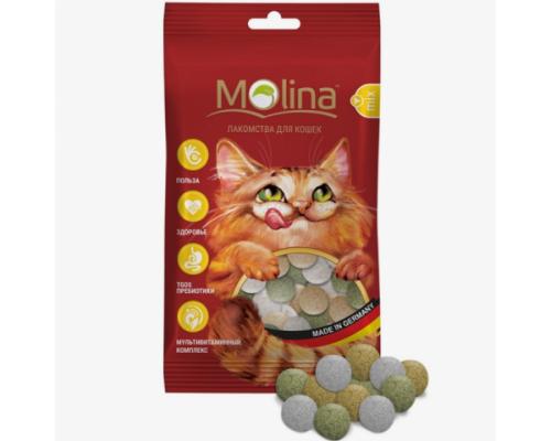 """Молина Лакомства для кошек """"MIX Дичь, Маскарпоне, Травка"""". Вес: 35 г"""