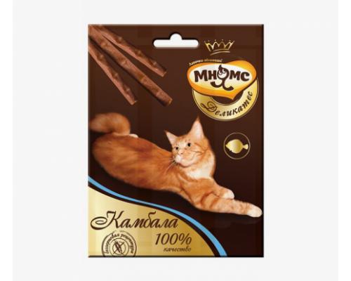 Мнямс Деликатес лакомые палочки 9 см для кошек с камбалой. Вес: 3х4г