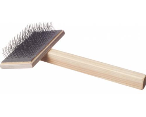 Зооник Пуходёрка большая плоская деревянная ручка