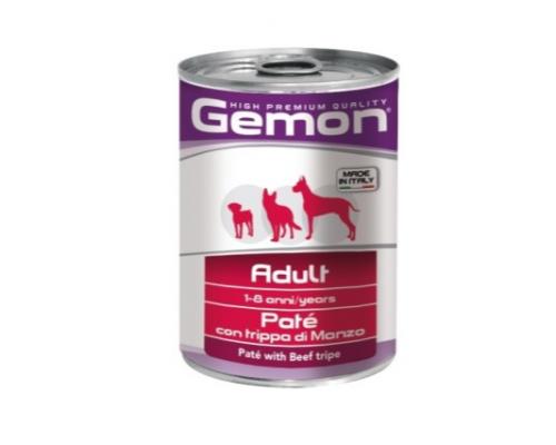 Gemon Dog консервы для собак паштет говяжий рубец. Вес: 400 г