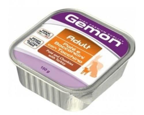Gemon Dog консервы для собак паштет с кусочками индейки. Вес: 150 г