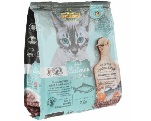 Leonardo Adult беззерновой сухой корм для кошек Лосось. Вес: 300 г