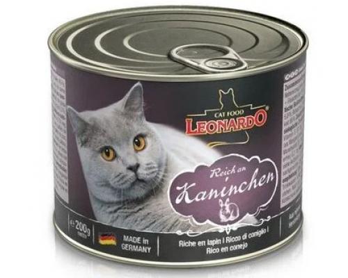 Leonardo консервы для кошек Кролик. Вес: 200 г