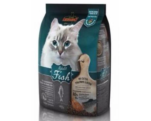 Leonardo Эдалт-Сенситив сухой корм для Взрослых кошек Рыба/рис для здоровья кожи/шерсти. Вес: 400 г