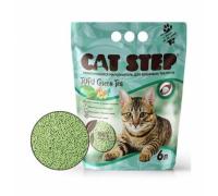Cat Step наполнитель растительный комкующийся Зеленый чай (Кэт Степ) 6 л