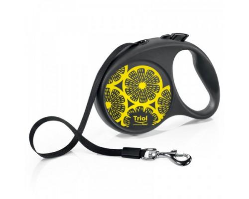 TRIOL Поводок-рулетка для собак Flexi Joy Lemon M 5м до 25кг, лента (Триол)