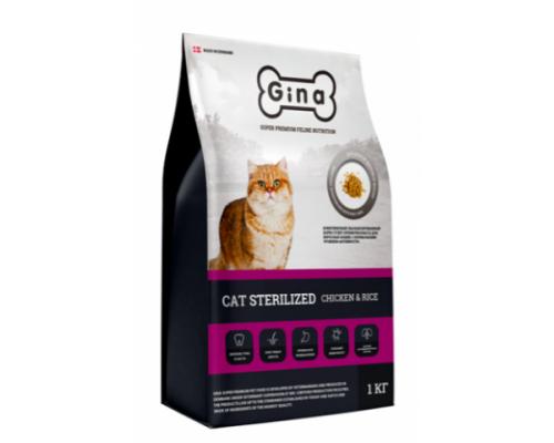 GINA DENMARK CAT STERILIZED CHIKEN&RICE Корм сухой для стерилизованных кошек с Курицей и Рисом. Вес: 1 кг