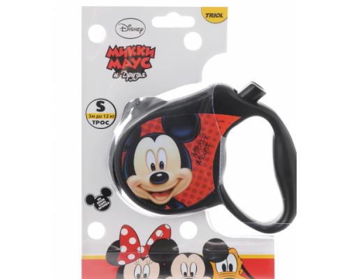 Disney WD1001 Поводок-Рулетка Mickey S (3м до 12кг)