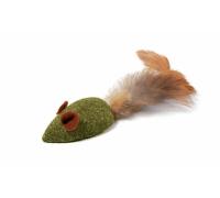 """Игрушка для кошек из пресс. кошачьей мяты """"Мышка с перьями"""", 50/110мм (Триол)"""