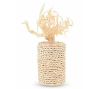 """TRIOL Игрушка из кукурузных листьев для кошек """"Бабина"""", d 4,5 см, L 12 см"""