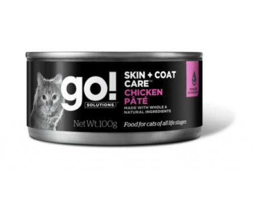 GO! Консервы с курицей для кошек (Skin + Coat Chicken Pate CF). Вес: 100 г