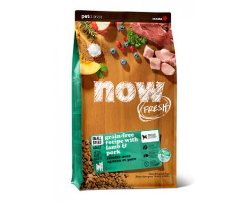 NOW FRESH Беззерновой для Малых пород Всех возрастов со свежим Ягненком и овощами (Fresh Small Breed Recipe Red Meat Grain Free 27/17). Вес: 1,59 кг