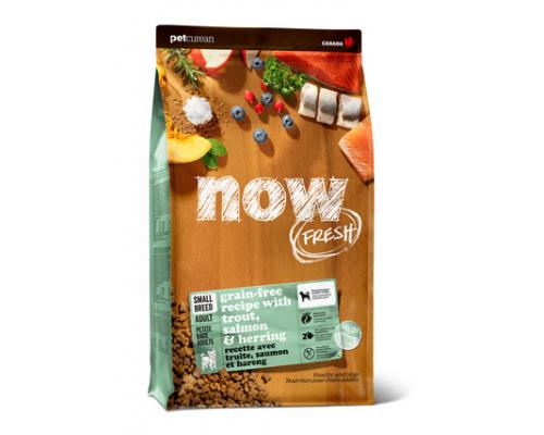 NOW FRESH Беззерновой для Взрослых собак Малых пород с Форелью, Лососем и овощами (Fresh Small Breed Recipe Fish Grain Free 26/16). Вес: 1,59 кг