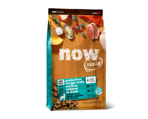 NOW FRESH Беззерновой для Взрослых собак Крупных пород с Индейкой, Уткой и овощами (Fresh Adult Large Breed Recipe Grain Free). Вес: 5,45 кг