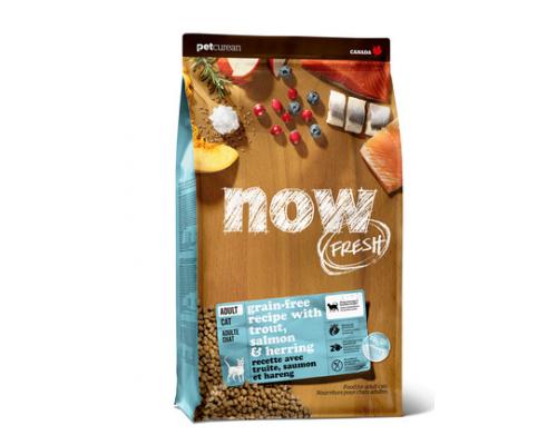 NOW FRESH Беззерновой для взрослых кошек с форелью и лососем для чувствительного пищеварения (Grain Free Fish Adult Recipe CF). Вес: 1,36 кг