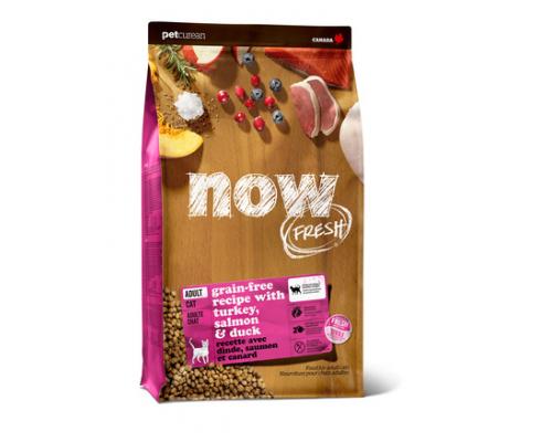 NOW FRESH Беззерновой для Взрослых Кошек с Индейкой, Уткой и овощами (Fresh Grain Free Adult Cat Recipe). Вес: 1,36 кг