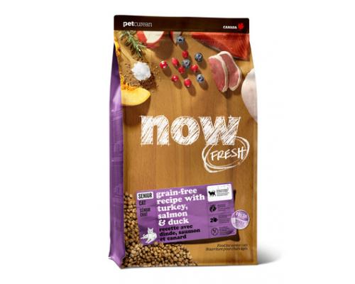 NOW FRESH Контроль веса - Беззерновой для Кошек с Индейкой, Уткой и овощами (Fresh Grain Free Senior Cat Recipe). Вес: 1,36 кг
