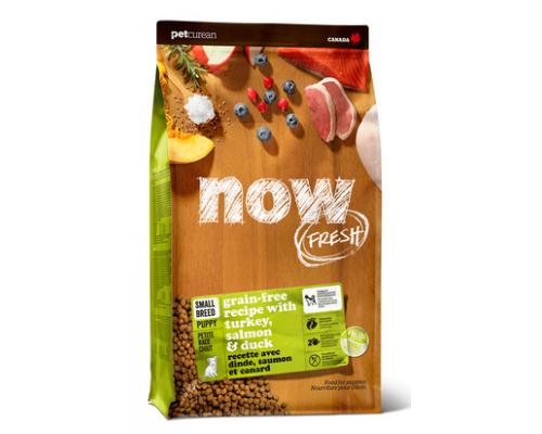 NOW FRESH Беззерновой для Щенков Малых пород с Индейкой, Уткой и овощами (Fresh Small Breed Puppy Recipe Grain Free 28/18). Вес: 2,72 кг