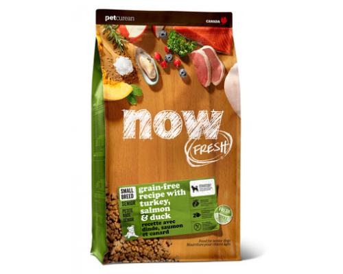 NOW FRESH Беззерновой для Пожилых собак Малых пород с Индейкой, Уткой и овощами (Fresh Small Breed Senior Recipe Grain Free 24/11). Вес: 1,59 кг