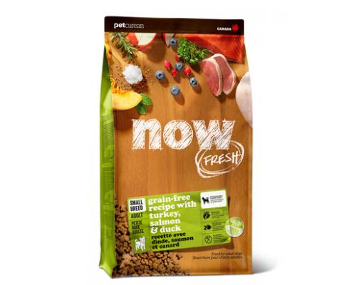 NOW FRESH Беззерновой для Малых пород Всех возрастов с Индейкой, Уткой и овощами (Fresh Small Breed Recipe Grain Free). Вес: 2,72 кг