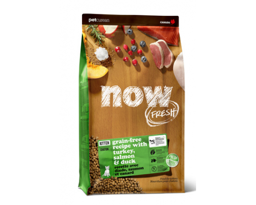 NOW FRESH Беззерновой для Котят с Индейкой, Уткой и овощами (Fresh Grain Free Kitten Recipe). Вес: 1,36 кг