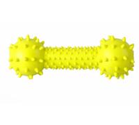 ГРЫЗЛИК АМ Игрушка Гантелька с шипами 14,5 см, желтая